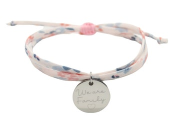 Bracelet Personnalisé, Bracelet Gravé, Bracelet Prénom, Bracelet liberty gravé cordon UNE Hespérides Ballet, bijou personnalisé prénom gravé