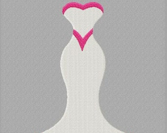 Enchanted Evening Dress Machine Embroidery Design