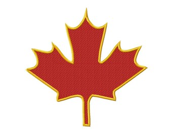 75b1234c3 Maple Leaf Embroidery Design - 3 Sizes Included