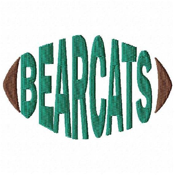 Bearcats Football Embroidery Design Word Art Word Design Etsy