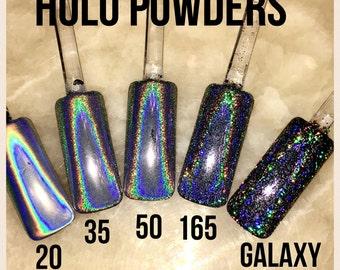 50 Micron Holographic Unicorn Powder Ultra Fine for Holographic Nails, Chrome Nails,  Nail Art, Nail Polish, Cosmetics, Lotions