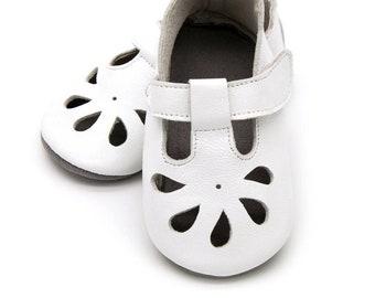 f7a450fdee5b T-strap white baby sandal