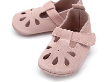 78829dcd4a4 T-strap pink baby sandal