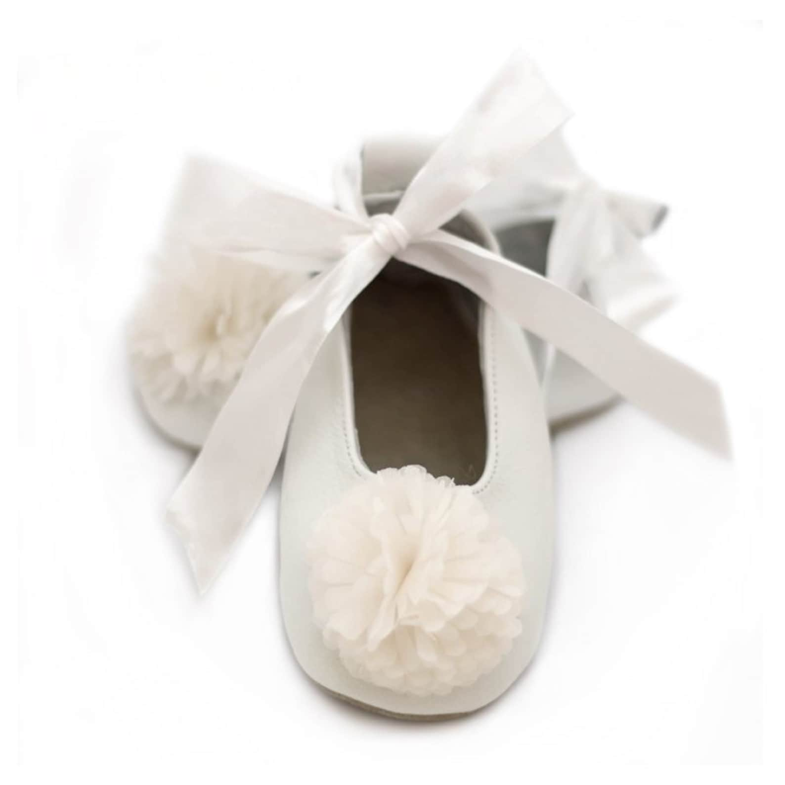 flower girl shoes, off white baptism ballet flats for girls, christening shoes, baby shower gift, birthday gift, for baby and to