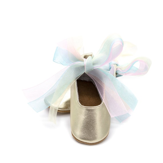 0c4a61051b1655 Unicorn baby moccasin shoes