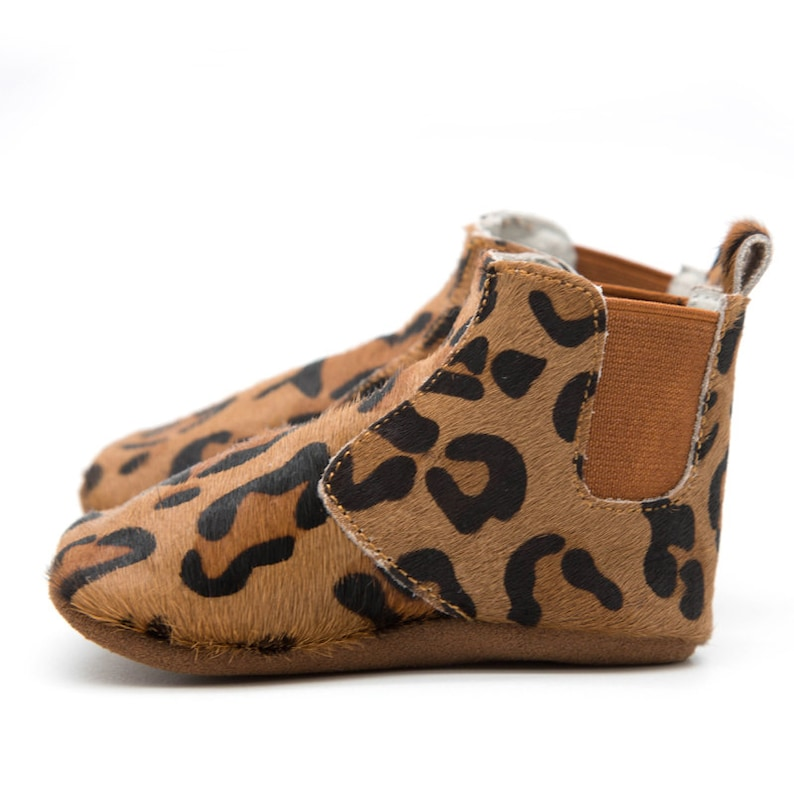 hot sale online b3620 0ae58 Leopard unisex baby boots for baby and toddler boy or girl   Etsy