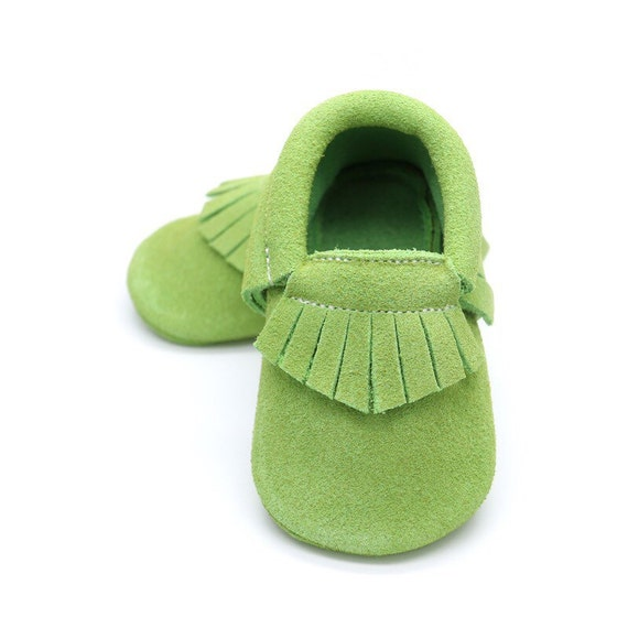 Tinker bell baby shoes lime green baby