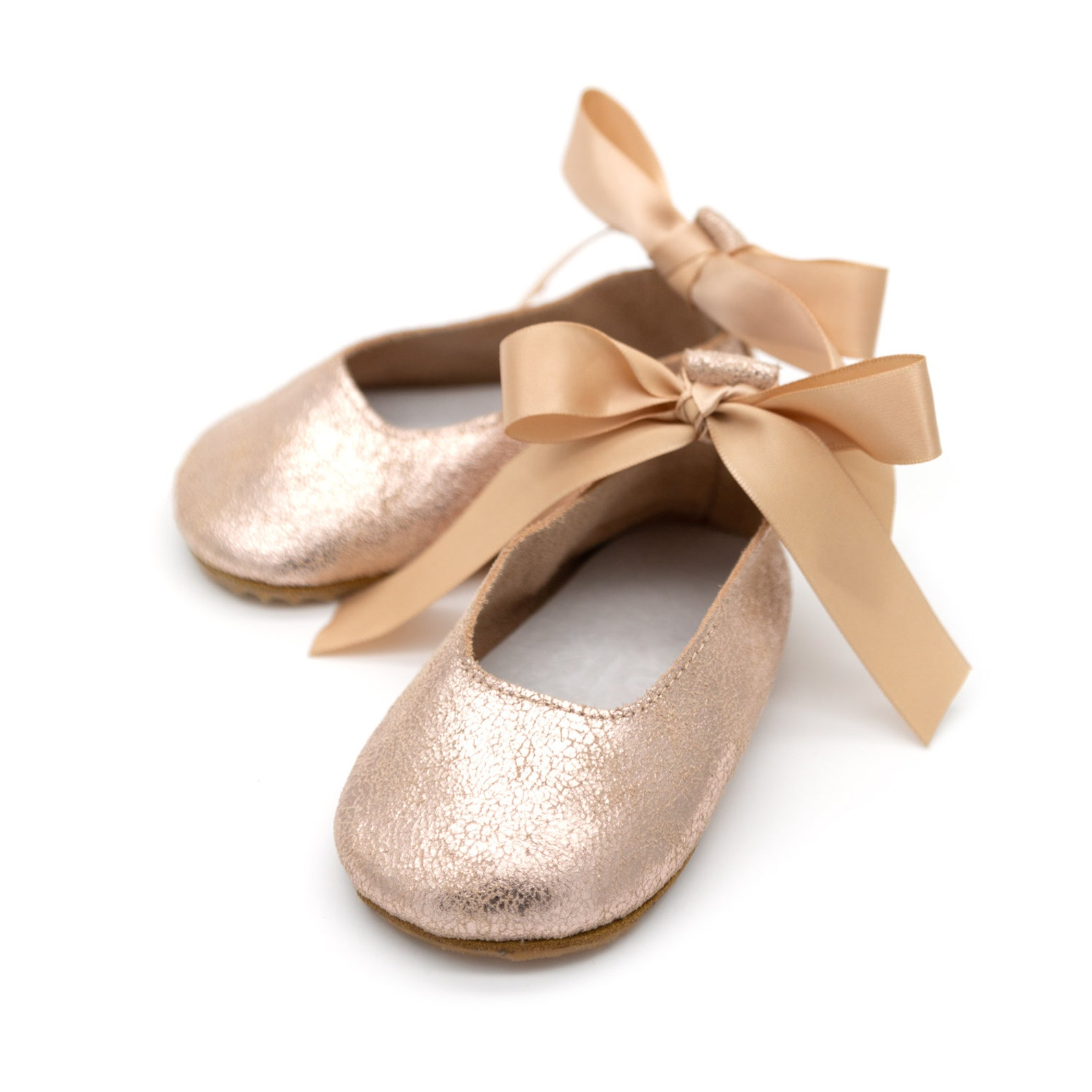 c19a1060a093 Rose Gold Baby Girl Shoes, Flower Girl, Baby Shoes, Wedding Shoes, Toddler  Shoes, Baby Moccasins, ...