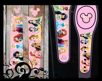 Vinyl Skin Decal Wrap Sticker Cover for the MagicBand 2 Magic Band 2 Christmas Holiday Red and White Scroll