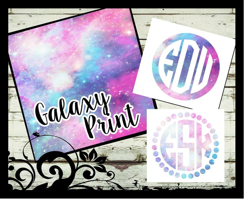 Monogram vinyl decal window,mirror,car,laptop sticker w//your custom initials