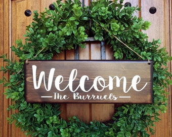 Welcome Sign | Welcome Door Sign | Personalized Sign | Family Name Sign | Front Door Sign | Personalized Wedding Gift | Entry Door Sign