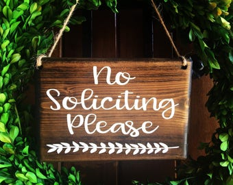 No Soliciting sign | Door Sign | No Soliciting Door Sign | Do Not Disturb Sign | No Solicitation Sign | No Strangers Sign | No Soliciting