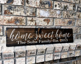 Home Sweet Home | Family Name Signs | custom name sign | Personalized name sign | Established Signs | Personalized Sign | Wedding Gifts