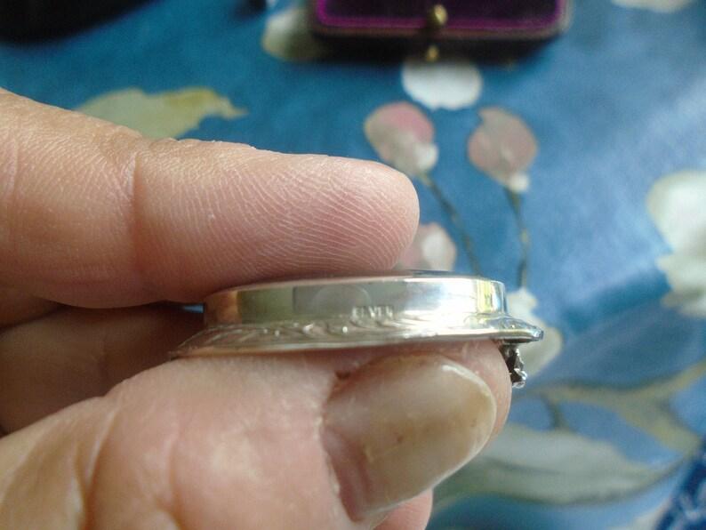VINTAGE BLUE JOHN Fluorspar Silver Brooch.