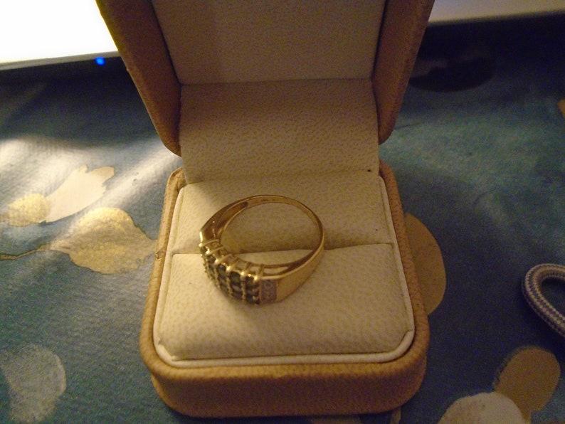 ALEXANDRITE /& DIAMOND RING  14CT Yellow Gold Free shippine! Size R9