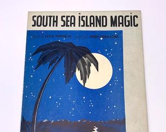"Vintage Sheet ""South Sea Island Magic"" Lysle Tomerlin Andy Iona Long"