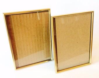 Set of 4 Vintage Gold Metal Frames