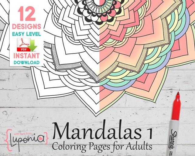 Mandalas para Pintar Libro para colorear mandalas Mandalas | Etsy