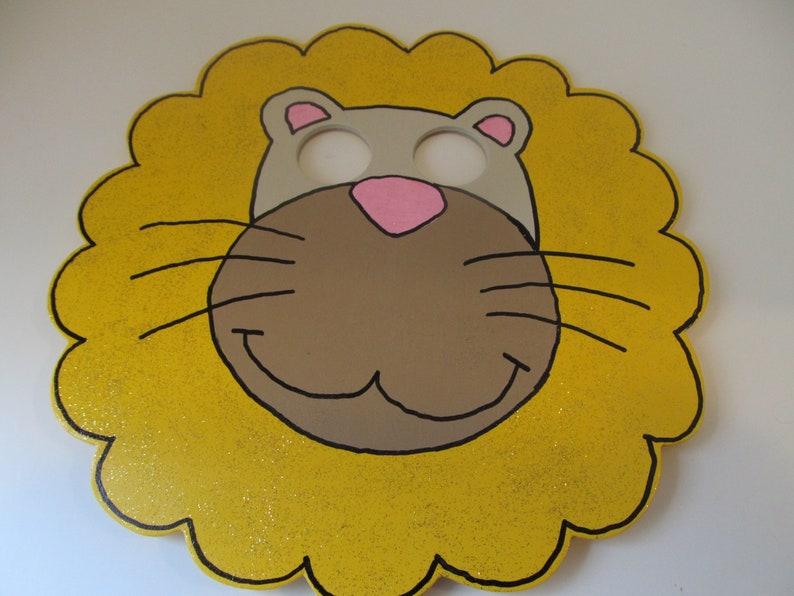 Kids Masks-Kids Lion Mask-Children Mask-Wood Lion Mask-Halloween Costume-Costume Accessories-Halloween Accessory-Kids Room Decor