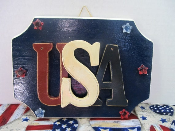 USA Wall Hanging Gifts For Her Women Fourth Of July