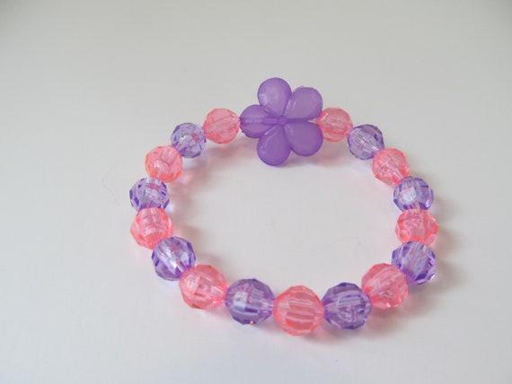 Kids Flower Bracelet-Beaded Bracelet-Bracelets for Girls-Girls   Etsy