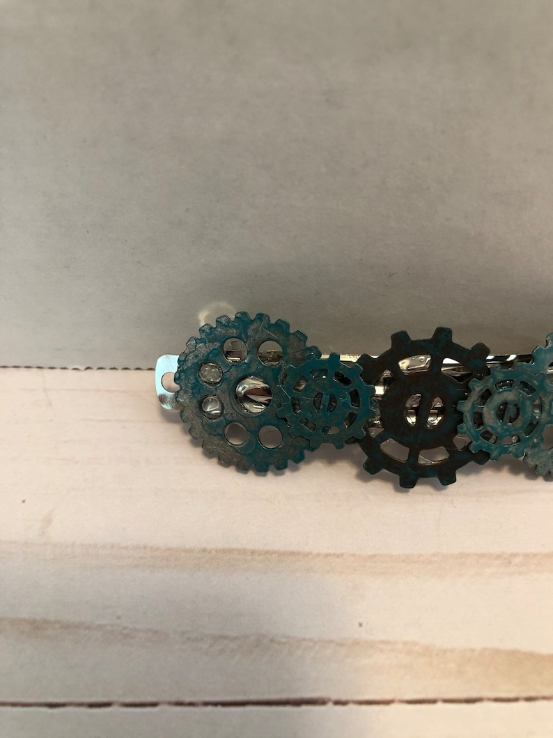 Steampunk Hair Clip-Industrial Hair Clip-Steampunk Accessory-Steampunk Jewelry-Steampunk Barrette-Gifts for Her