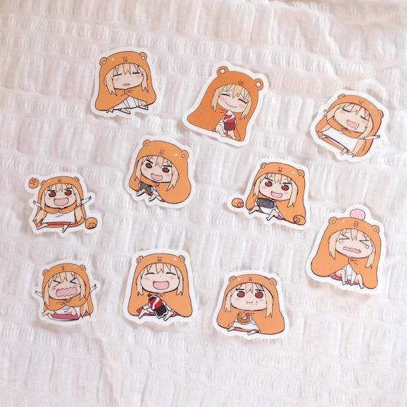 2 Piece Anime Girl Stickers Set