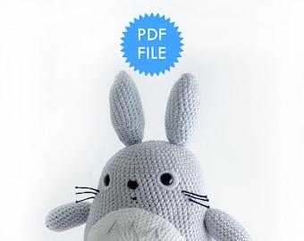 Amigurumi bunny crochet pattern, pdf doll pattern