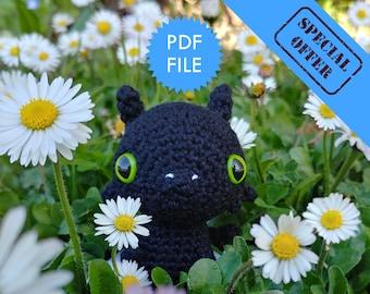 Dragon amigurumi crochet pattern, pdf doll pattern for beginners