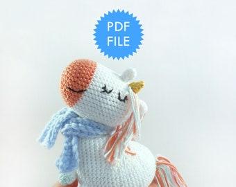 Amigurumi Pattern Unicorn pdf Instructions