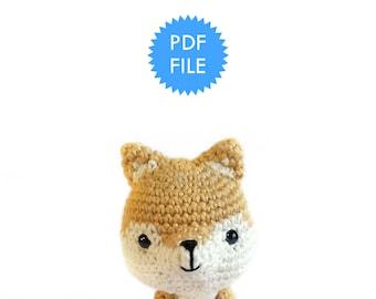 Shiro the Shiba Inu Dog, Amigurumi Pattern Instructions - pdf file