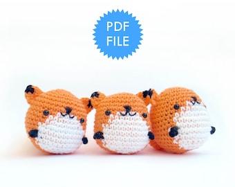 Amigurumi crochet pattern, fox animal crochet
