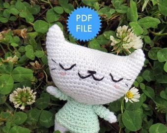 Amigurumi crochet pattern, crochet animal cat, Minù the Cat