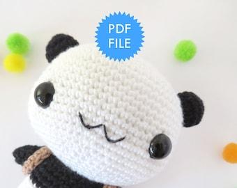 Amigurumi Panda bear crochet pattern
