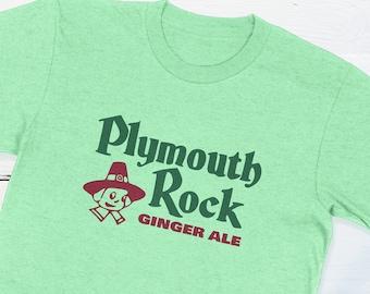 Vintage Soda Pop Bottle Cap - Plymouth Rock Ginger Ale Vintage Bottle Cap T-shirt Retro Americana Pilgrim