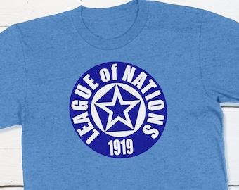 World History - League of Nations Logo History T-shirt First World War World Peace Organization Woodrow Wilson Fourteen Points