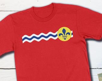 St Louis Shirts - St Louis Missouri City Flag - St Louis Shirts St Louis Gift Missouri Gift Missouri Shirt St Louis Art Cardinals Blues