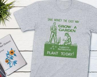 Vintage Patriotic Gardening Shirt Grow A Garden World War 2 Unisex Shirt History WWII War Poster Vintage Poster Gardening Gift Propaganda