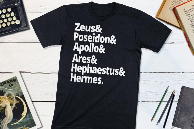 Greek Mythology Shirt  Ancient Greek Gods T-shirt  Zeus Black
