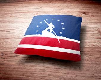 Richmond Flag Throw Pillow - Richmond Virginia Flag Throw Pillow