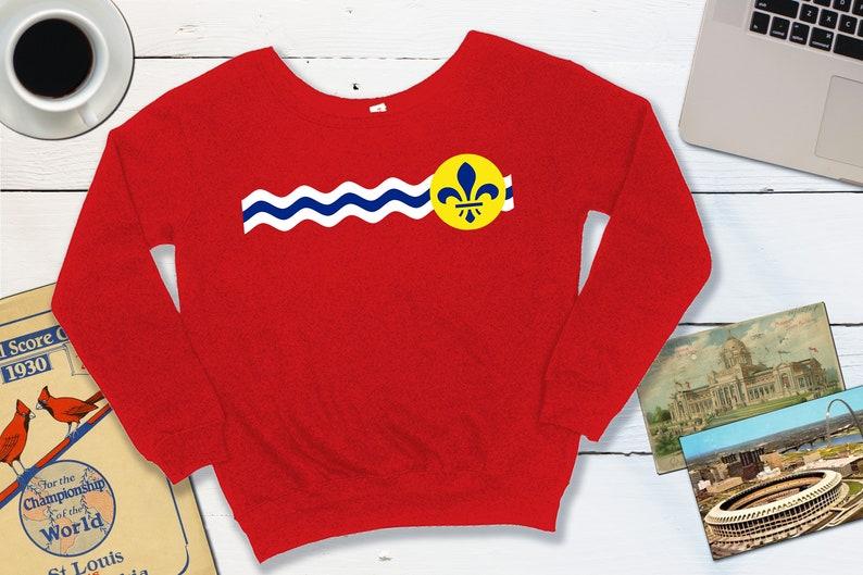 St Louis Slouchy Sweatshirt  St Louis Missouri City Flag  St L US women's letter