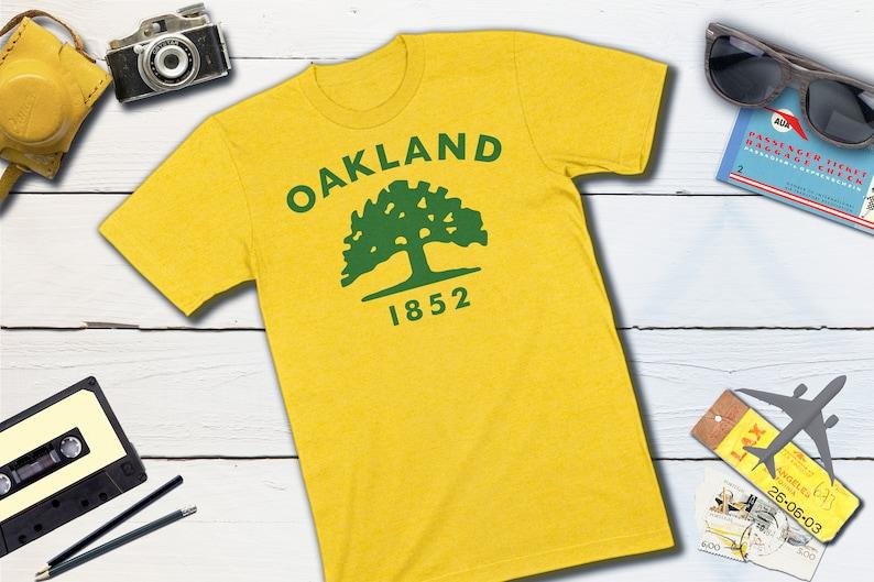 Oakland Flag  Oakland California City Flag T-shirt  Oakland Yellow