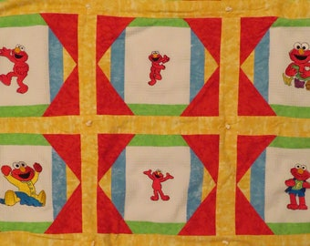 Vintage Sesame Street small quilted blanket