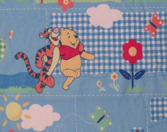 Vintage Winnie the Pooh flannel twin flat and fitted sheets