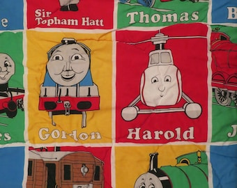 Vintage Thomas the Tank Engine twin comforter