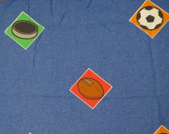 Vintage Fun Sports twin fitted sheet