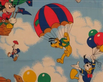 Set of 3 Vintage Mickey Mouse curtains