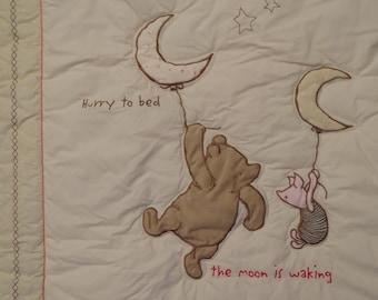 Classic Winnie the Pooh Crib comforter and bumper pad