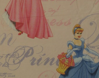 Vintage Disney Princess Twin flat sheet