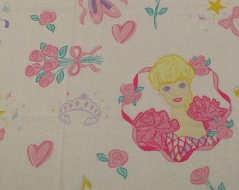Vintage Barbie Twin flat and fitted sheets